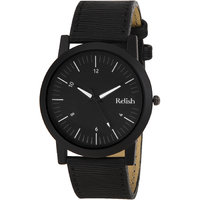 RELISH RE-S8057BB Black Slim Analog Watches For Men's A