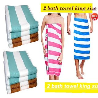 Angel homes 2 bath towel cotton king size 30x60 inch