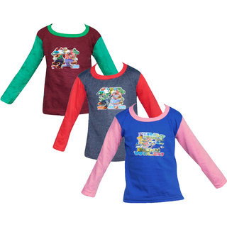 Combo of 3 Cotton Full Sleeve( RKG)  Tshirt