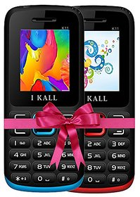 IKall K11 RedBlue Dual Sim Multimedia Mobile Combo Buy 1 Get 1 (No Earphones)