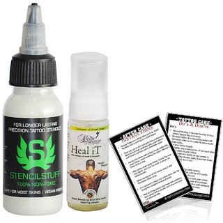 Professional Tattoo Stencil Stuff 1 oz (Made In USA) Precision Stencils Comes Free Heal It