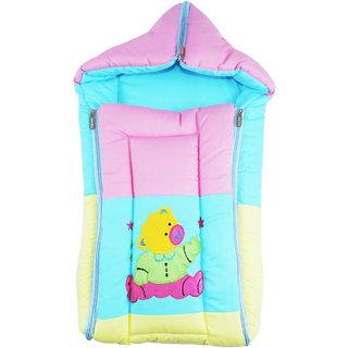 Ole Baby Three in One Icecream Sandwich Reversible Carry Nest Cum Sleeping Bag with Hood