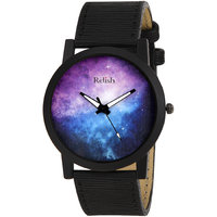 RELISH RE-S8067BB Black Slim Analog Watches For Men's A
