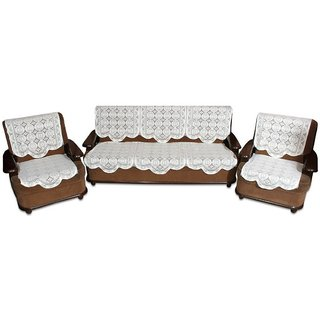 Vivek  Homesaaz  Multi Embossed 5 Seater Net Sofa Cover Set -10 Pieces