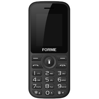 Forme N5+ (Black+Red) (Selfie Camera,Wireless FM,1.8 Inch Display,Dual SIM,850 mAh Battery)