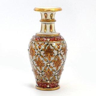 Marble Flower Vase Golden Painting 6