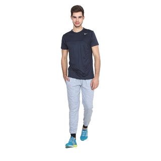 Swaggy Solid Men's Grey Track Pants