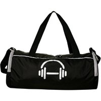 Black Polyester Medium (Between 60-69 Cms) Gym Bag