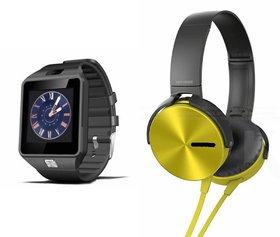 CUBA DZ09 Smart Watch  Extra Extra Bass Headphones for HTC DESIRE EYE