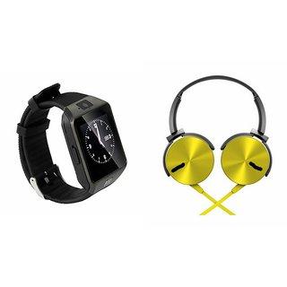 Buy Cuba Dz09 Smart Watch Extra Extra Bass Headphones For Redmi Note