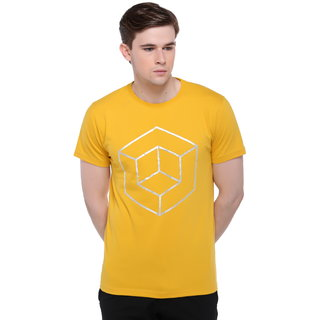 Club York Men's Yellow Round Neck Men