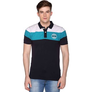 Club York Men's Multicolor Polo Collar Men