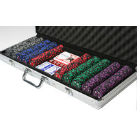 500 Premium Clay Composite Chips Poker Set With Carrying Case