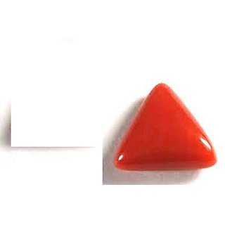 Red Coral Cultured Cabochon Cut Moonga angarak Mani Loose Gemstone 5 Carat by the gallery of gemstone