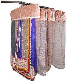 Kuber Industries™ Synthetic Hanging Saree Cover (Set of 12) - Pink