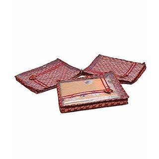 Kuber Industries trade; Saree Cover Designer Brocade   3 Pcs Set