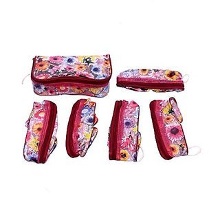 Kuber Industries trade; Cosmetic Pouches in Printed Plastic Set of 6 Pcs