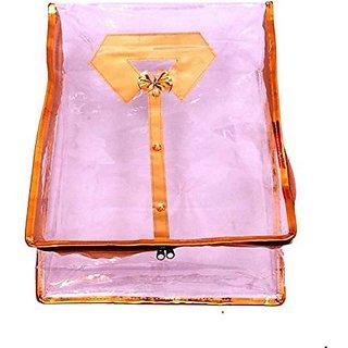 Kuber Industries™ Shirt Cover / Kurta Cover/ Wardrobe Organiser in Transparent Plastic