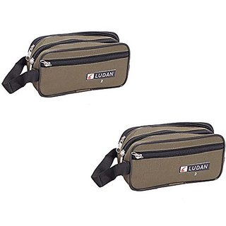 Kuber Industries Multi purpose Kit, Shaving kit, Travelling Kit (Canvas) Set Of 2 Pcs