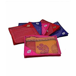 Kuber Industries™ Quilted Saree Cover 6 Pcs Set (Multi), Wedding Collection Gift