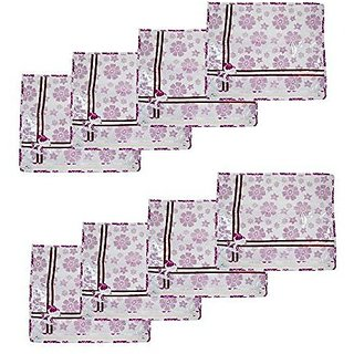 Kuber Industries™ Printed Non Wooven Saree Cover Set of 24 Pcs (White)