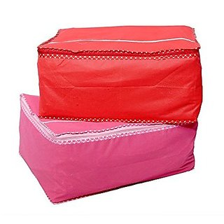 Kuber Industries™ Saree Cover in Heavy Non Wooven Material Set of 2 Pcs (Capacity of 10 to 15 Sarees)