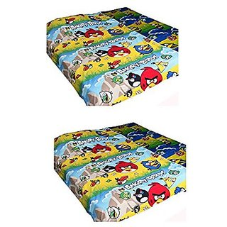 Kuber Industries Angry Birds Full Size Reversible Single Dohar/Blanket/AC Quilt (Angry Birds Print) Set of 2 Pcs