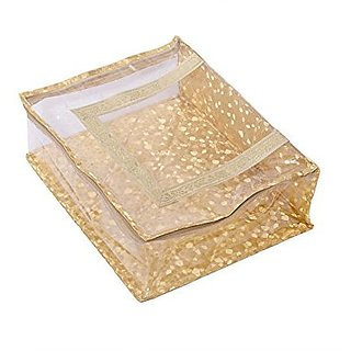 Kuber Industries™ Designer Quilted Transparent Saree Cover