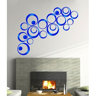 NAWAB 3D Acrylic  BLUE wall dcor for office  home pack of 20