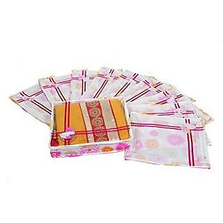 Kuber Industries Non Woven Designer Bow Saree Cover Set Of 10 Pcs (4 Inch Height)