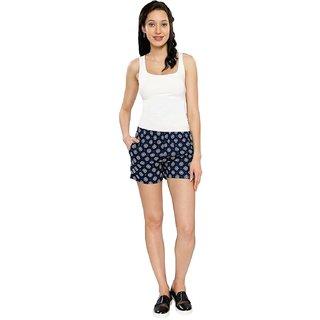 Smarty Pants Women's Blue Motif Printed Casual Shorts