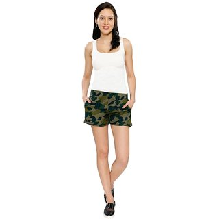 Smarty Pants Women's Camouflage Casual Shorts