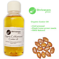 Organic Cold pressed Castor oil for natural hair growth and skin care - 200 ml