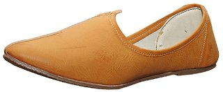 Port Men's Tan Leather  Jalsa Jutti
