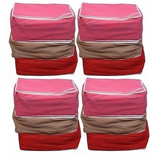 Kuber Industries trade; Designer Non woven Saree cover 12 pcs combo / Wardrobe Organiser/Regular Clothes Bag