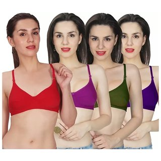 cbd7dfcfec7 Buy RK fashion pack of 4 different color high quality bra's Online - Get  53% Off