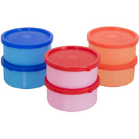 Pack of 6 container-6 plastic container