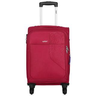 Safari Small Red Fabric 4 Wheels Trolley