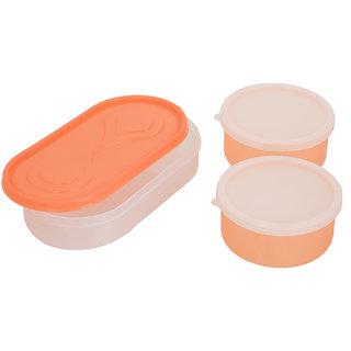Carrolite 3in1 Orange Container2 Plastic container1 chappati tray