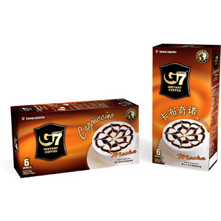 G7 Instant Cappuccino Hazelnut Coffee Vietnamese Premium Gourmet Coffee Box 6 sticks 100 Pure Soluble Coffee