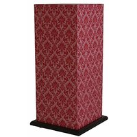Shady Ideas Light Pink With Dark Pink Print Paisley Passion Large Lamp