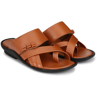 Lee Peeter Men's Tan Slip On Sandals
