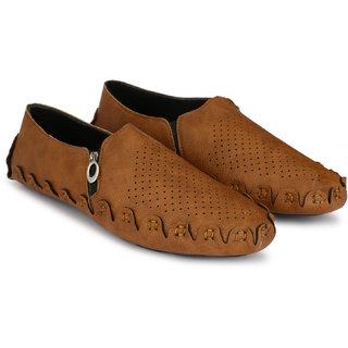 Lee Peeter Men's Tan Zip Sandals