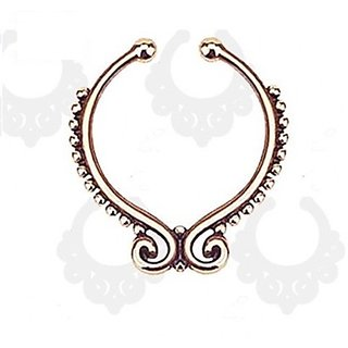 Beaded Rose Gold Nose Ring