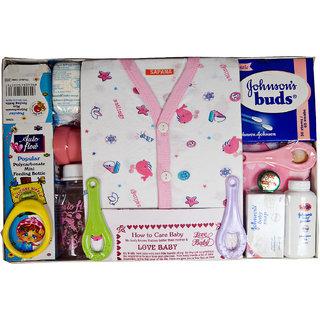 Love Baby Gift Set - Sapna Pink White