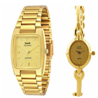 HWT Golden Quartz Couple Watches