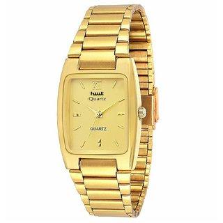 Hwt Ractengle Gold Plated Men's Quartz Watch