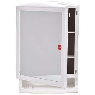 Swk Sanitaryware Niflox Plastic Bathroom Mirror Cabinet White Online At Best Prices From