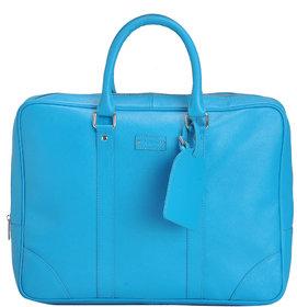 Mandava 100  Genuine Safiano Leather 16.2 inch Turquoise Unisex Laptop Bag