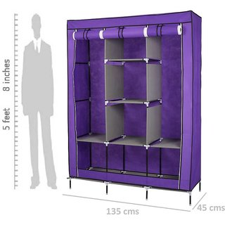 Fancy Portable Fabric Collapsible Foldable Clothes Closet Wardrobe Storage  Rack Organizer Cabinet Cupboard Multicolor